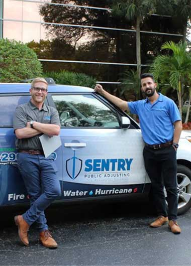 Sentry car and staff